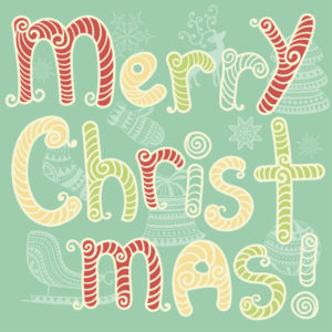 Vector Merry Christmas Greeting Card
